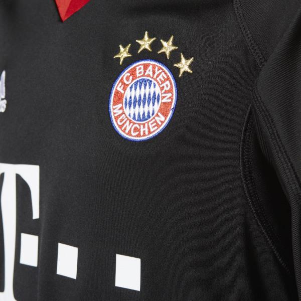 034afad832f FC Bayern Munich Replica Goalkeeper Jersey Black / Fcb True Red / White  AZ7945