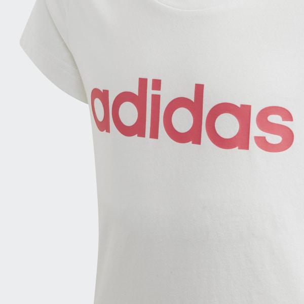 adidas Essentials Linear T Shirt Weiß | adidas Deutschland