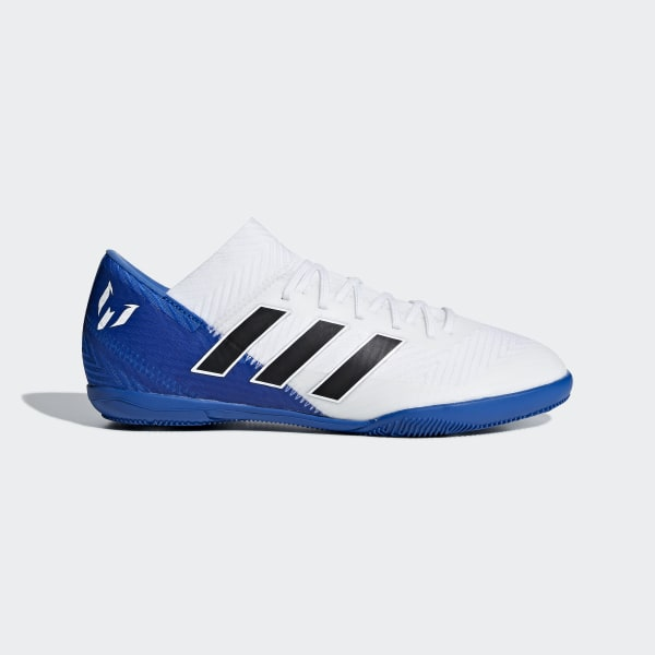 f233e8b893d Nemeziz Messi Tango 18.3 Indoor Shoes Cloud White   Core Black   Football  Blue DB2393