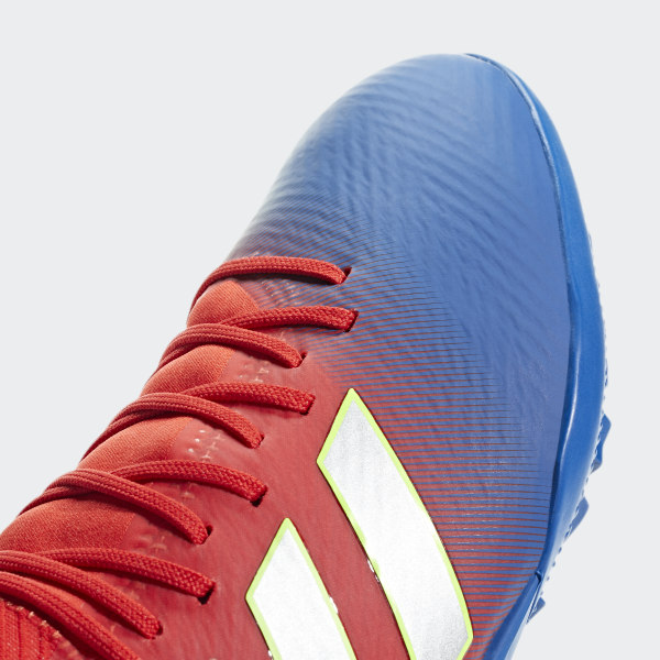ed80efc652b Nemeziz Messi Tango 18.3 Turf Shoes Active Red   Silver Metallic   Football  Blue D97267