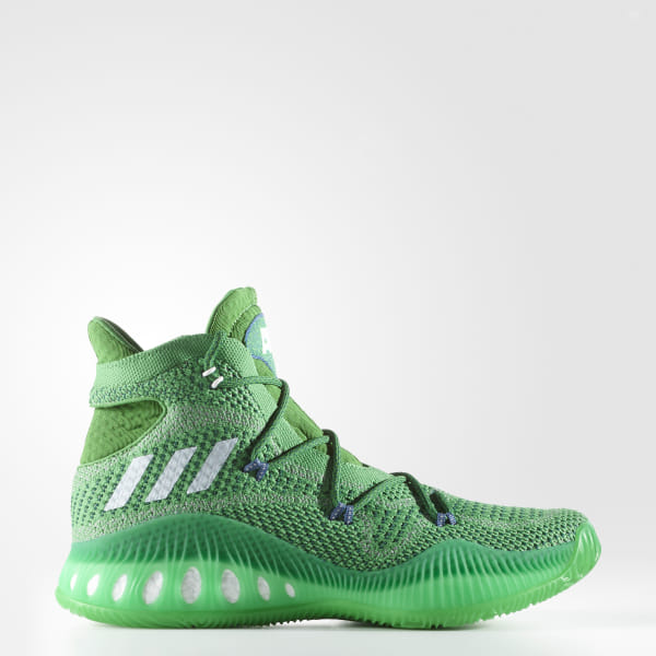 cheap for discount f11d5 4aa2e Crazy Explosive Primeknit Shoes Evergreen   Cloud White   Collegiate Green  BW0626