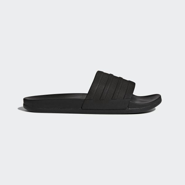 adidas Adilette Cloudfoam Plus Sandals | Mono Black | Footasylum