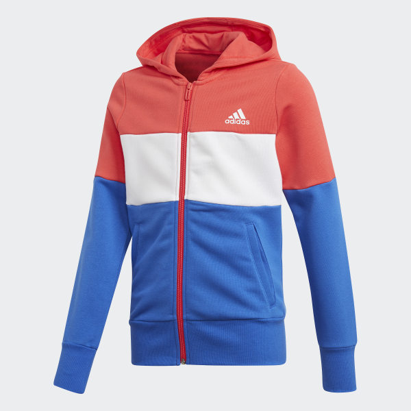8c253ef6e Mikina Sport ID Hoodie Real Coral / White / Hi-Res Blue / White CF6664