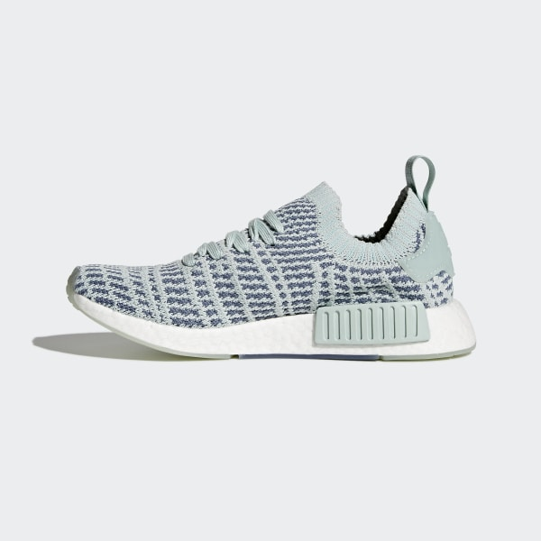 low priced d8b57 d17a5 NMD R1 STLT Primeknit Shoes Ash Green Raw Steel Ftwr White CQ2031