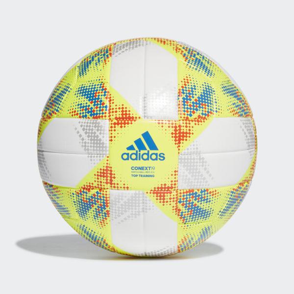 84c4a00d2 Conext 19 Top Training Ball White / Solar Yellow / Solar Red / Football  Blue DN8637