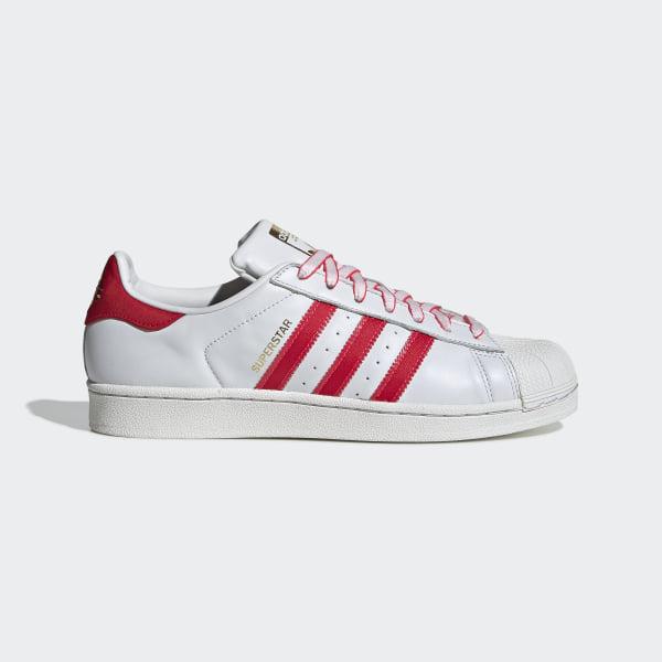 uk availability 52737 93b00 Superstar Schuh Crystal White   Shock Red   Scarlet G27571
