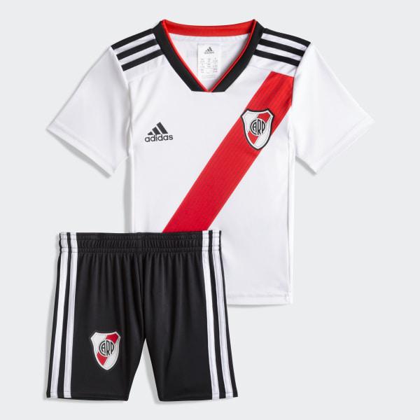 1f3cb2764 Mini Kit Titular de Local Club Atlético River Plate WHITE/RED/BLACK CF8958
