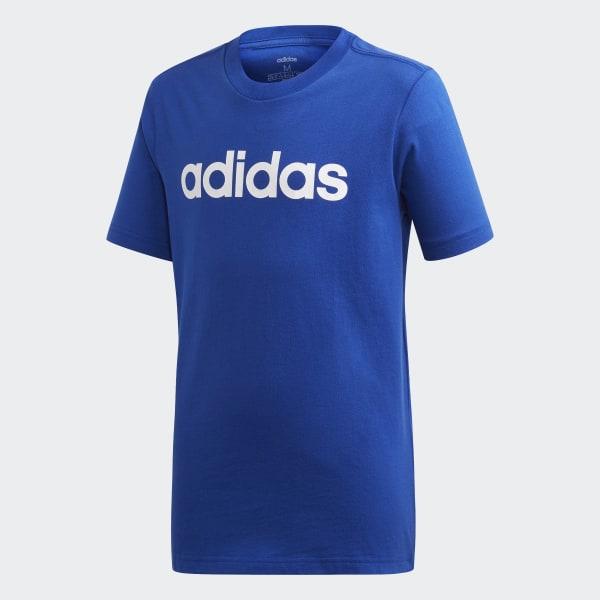 2a4bd3878 Essentials Linear Logo T-Shirt Collegiate Royal / White EI7990