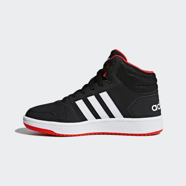 1861b9c891e0 Hoops 2.0 Mid Shoes Core Black   Cloud White   Hi-Res Red B75743