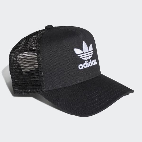 868d7d447 adidas Trefoil Trucker Cap - Black | adidas Ireland