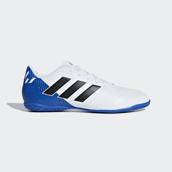 fabae2e996 Chuteira Nemeziz Messi Tango 18.4 Futsal FTWR WHITE CORE BLACK FOOTBALL  BLUE DB2273
