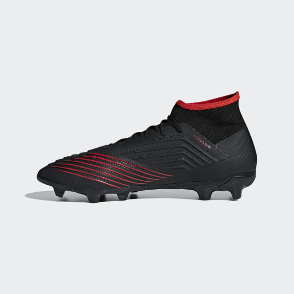 715117114 Predator 19.2 Firm Ground Boots Core Black   Core Black   Active Red D97939