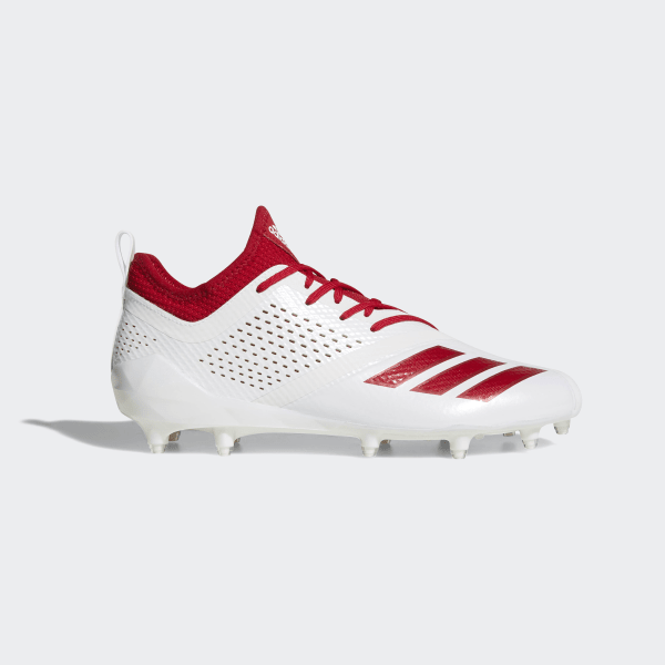 8303da2b54f Adizero 5-Star 7.0 Cleats Cloud White   Power Red   Power Red CQ0321