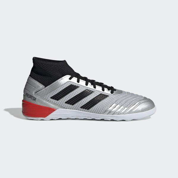 6406cdd5 Predator Tango 19.3 Indoor Fotballsko Silver Met. / Core Black / Hi-Res Red