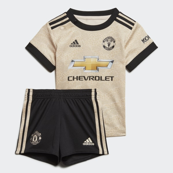 brand new 6a802 02bee adidas Manchester United Away Baby Kit - Beige | adidas UK