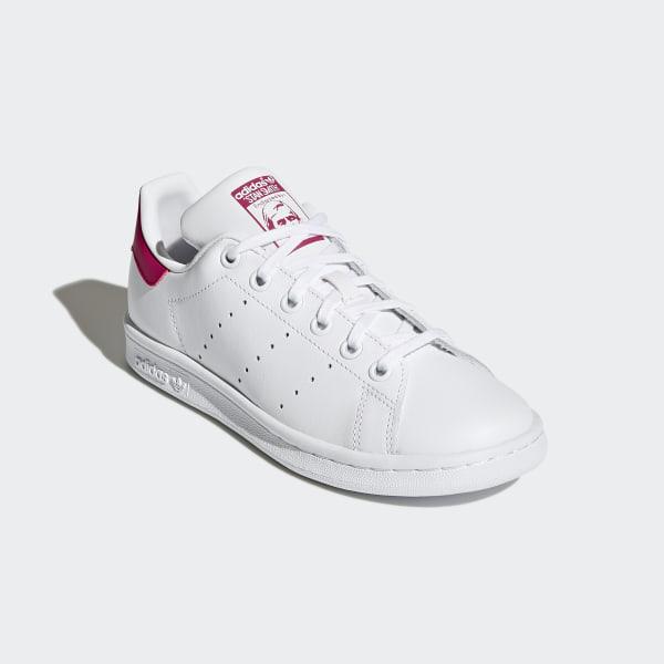 adidas Originals Adidas Stan Smith J B32703, Baskets Fille, Blanc (Footwear WhiteBold Pink), 38 23 EU
