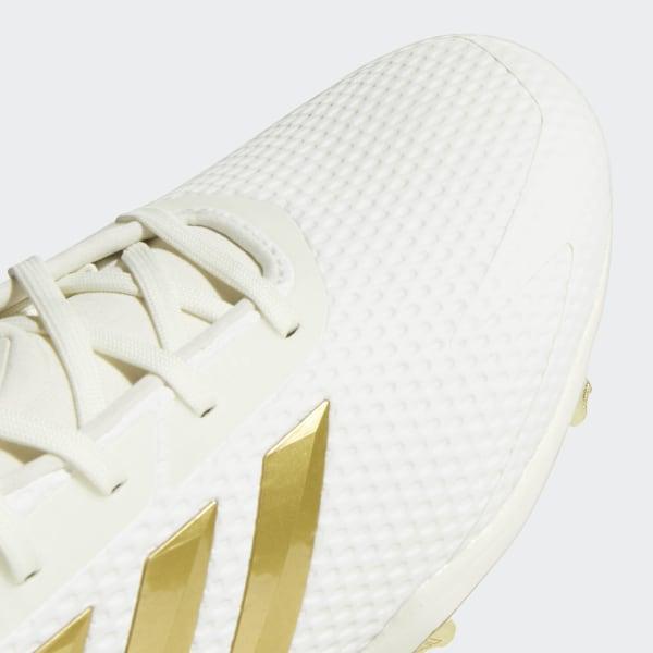 94b49b874047 Adizero Afterburner V Cleats Running White / Gold Metallic / Core Black  CG5222
