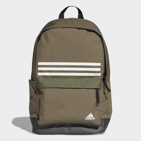 c649ba3741 Batoh Classic 3-Stripes Pocket Green   Black   White DT2617