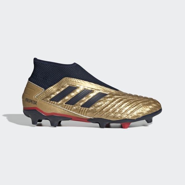 new styles edb14 d9fc0 Predator 19.3 Firm Ground Zinédine Zidane Boots Gold Met.   Collegiate Navy    Predator Red