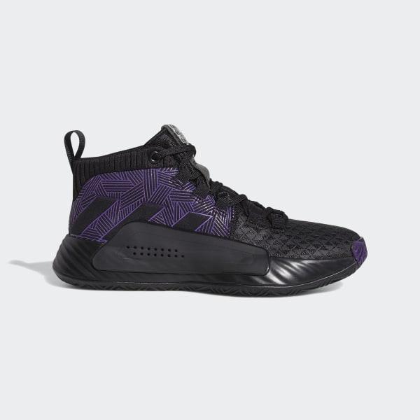 85272d88047 Dame 5 Shoes Core Black / Active Purple / Silver Metallic EG2627