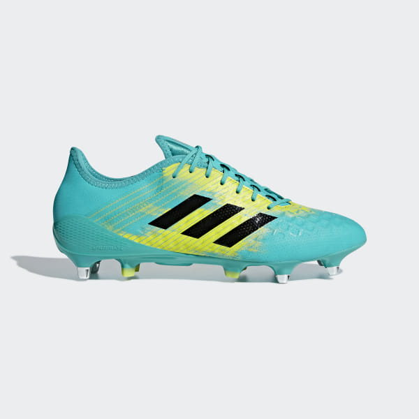 bf9ff670a034 Predator Malice Control Soft Ground Boots Hi-Res Aqua / Core Black / Shock  Yellow