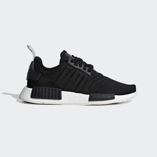 sale retailer bbf62 6aa45 NMD R1 Shoes Core Black   Core Black   Orchid Tint BD8026