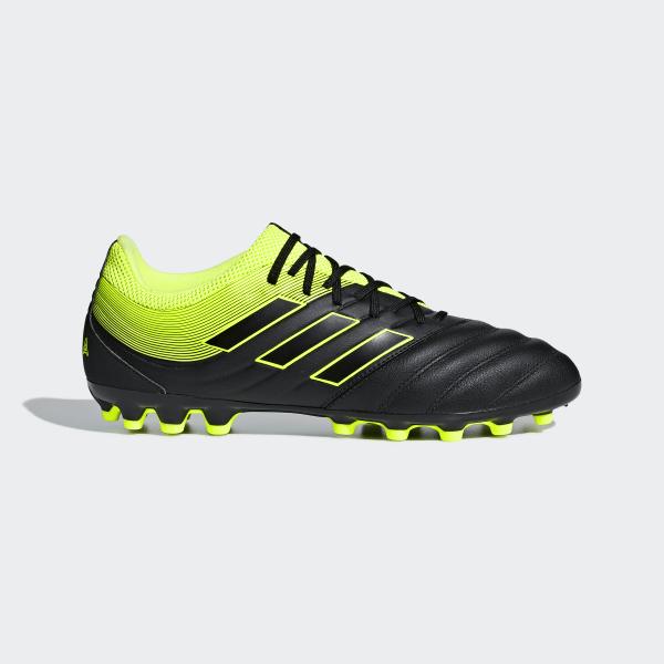 6364fcc57 Copa 19.3 Artificial Grass Boots Core Black   Solar Yellow   Core Black  F35774