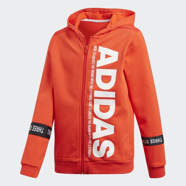 0d80d92a18 Veste à capuche Sport ID Branded - rouge adidas   adidas France