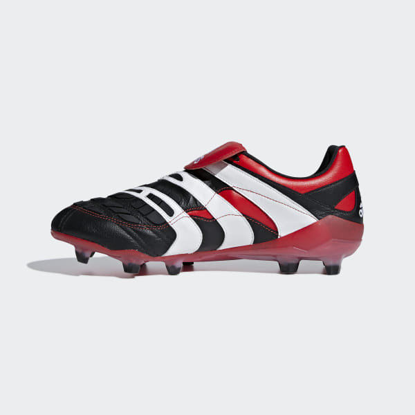 3d389f0f19fc Predator Accelerator Firm Ground Cleats Core Black / Cloud White / Red  D96665