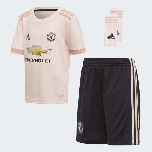 8aa6857cbe5 Manchester United Away Mini Kit Icey Pink / Trace Pink / Black CG0062