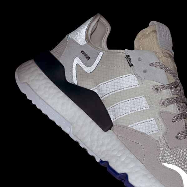 new arrival 1907e cf9c8 Nite Jogger Shoes Raw White   Grey One   Active Blue F34124