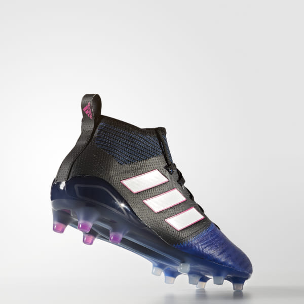 76932963ff9 ACE 17.1 Primeknit Firm Ground Boots Core Black Footwear White Blue BB4315
