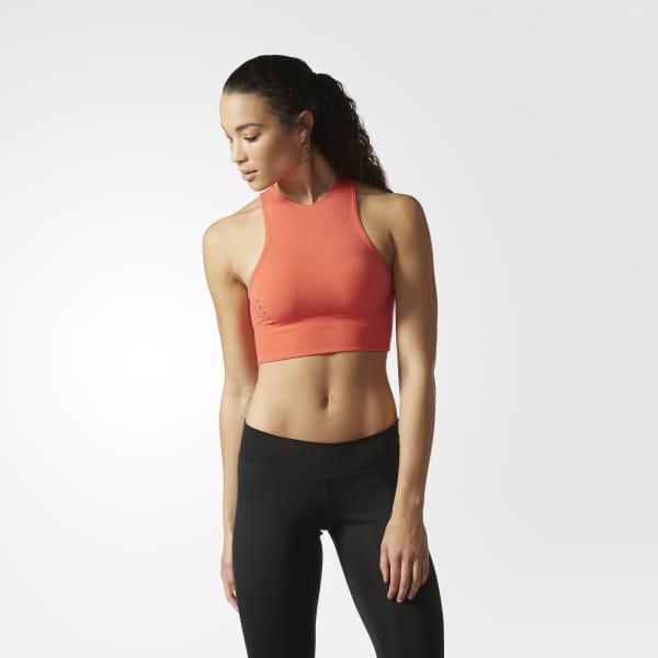 2545cab42fc adidas Wanderflow Warp Knit Crop Top - Orange | adidas US