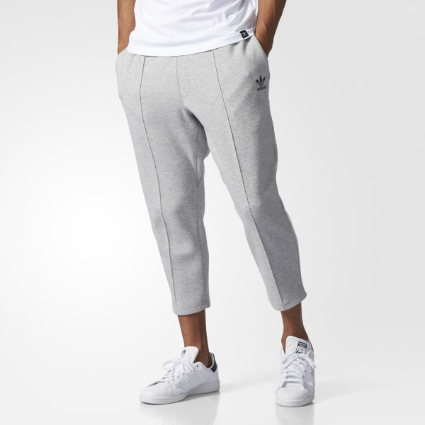 df0e63149c adidas Instinct Cropped Pintuck Track Pants - Grey   adidas US