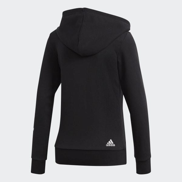 veste femme zippée noire avec capuche adidas