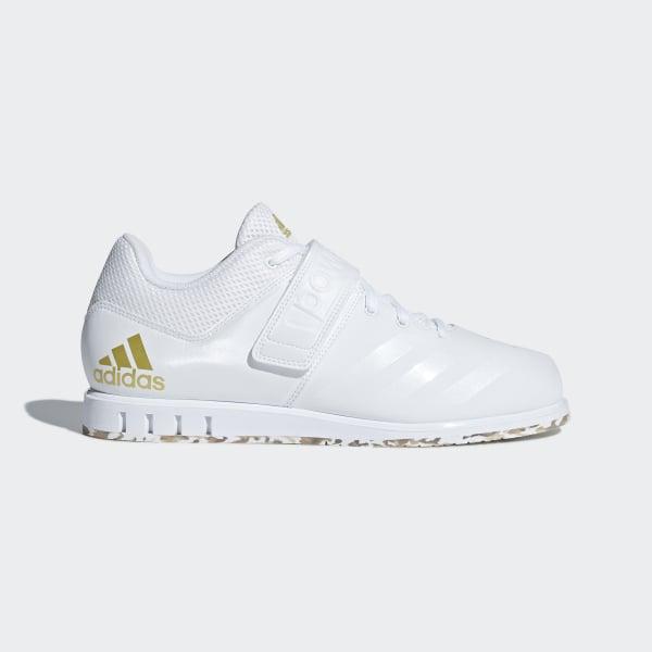 09d520a8a099 Powerlift.3.1 Shoes Cloud White / Cloud White / Gold Metallic AC7467