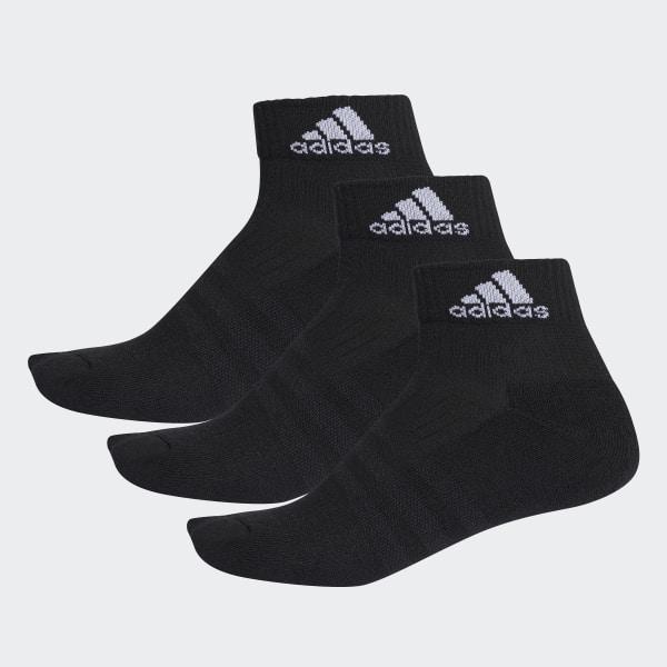 4e3ba9d7a 3-Stripes Performance Ankle Socks 3 Pairs Black / White / White AA2286
