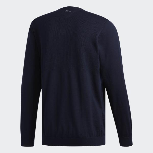 7076bcace Adipure Refined V-neck Sweater Collegiate Navy DX0927