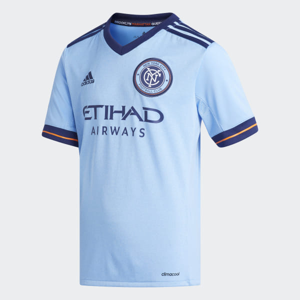 dcbe0ec6978 New York City FC Home Jersey Bahia Light Blue   Night Sky AY7008