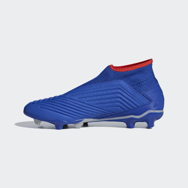 104bd3fb033 Predator 19.3 Laceless Firm Ground Cleats Bold Blue   Active Red   Silver  Metallic F99731
