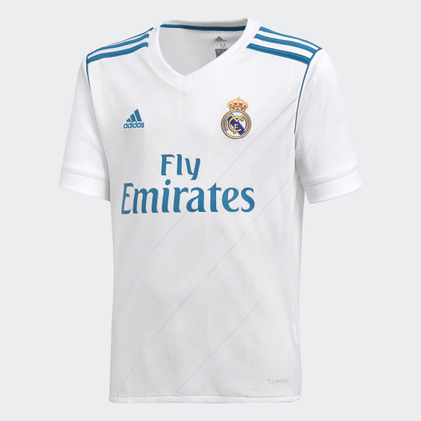 fe74f74a2 Real Madrid Home Replica Jersey White Vivid Teal B31111