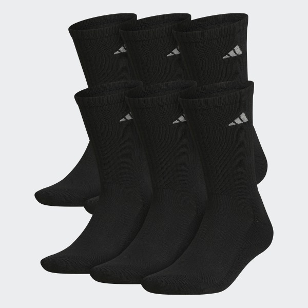 7965c928bb adidas Athletic Crew Socks 6 Pairs - Black | adidas US
