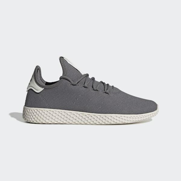 adidas Originals x Pharrell Williams Mens Tennis HU Trainers Grey FourGrey FourChalk White