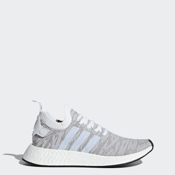 info for 2447a 4e881 Chaussure NMD R2 Primeknit Grey   Footwear White   Core Black BY9410