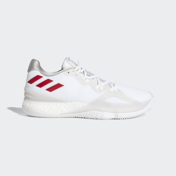 size 40 3abb7 653b8 Crazylight Boost 2018 Shoes Ftwr White   Scarlet   Silver Met. AQ0007