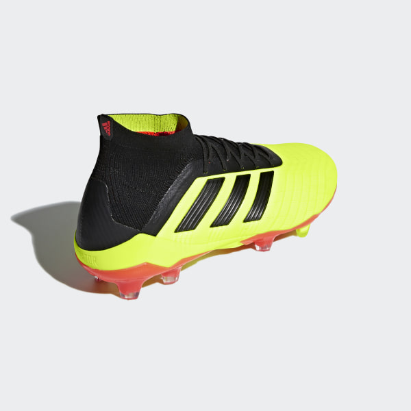 7ee94e52dc21 Predator 18.1 Firm Ground Boots Solar Yellow / Core Black / Solar Red DB2037