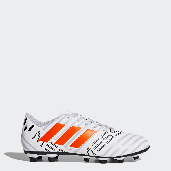 6d86637bd1 Chuteira NEMEZIZ Messi 17.4 Campo FTWR WHITE SOLAR ORANGE CLEAR GREY S12  S77199