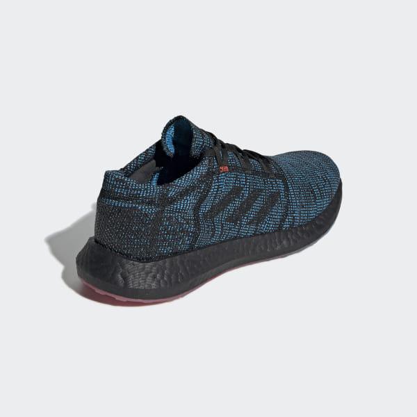 3bc87cc8b40c Pureboost Go LTD Shoes Blue   Core Black   Shock Cyan D97425