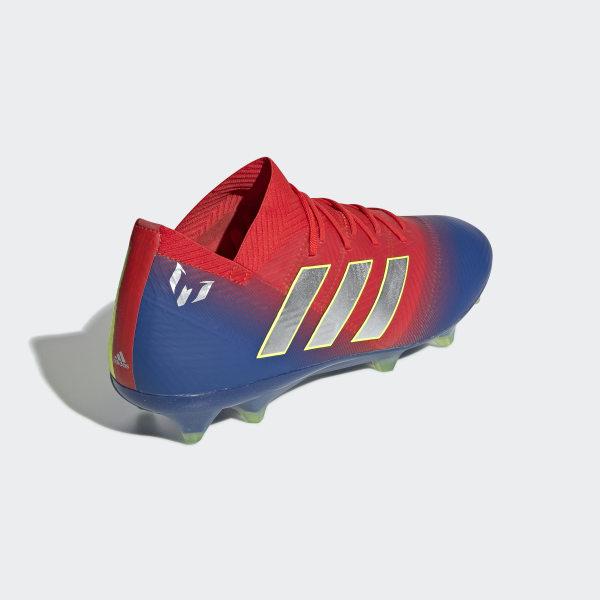 783170a99 Nemeziz Messi 18.1 Firm Ground Boots Active Red   Silver Met.   Football  Blue BB9444