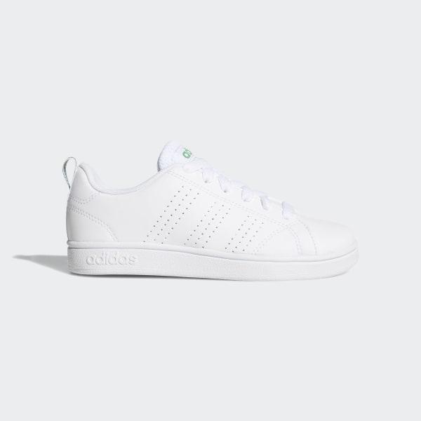 ba505bf6 VS Advantage Clean Shoes White / White / Green AW4884